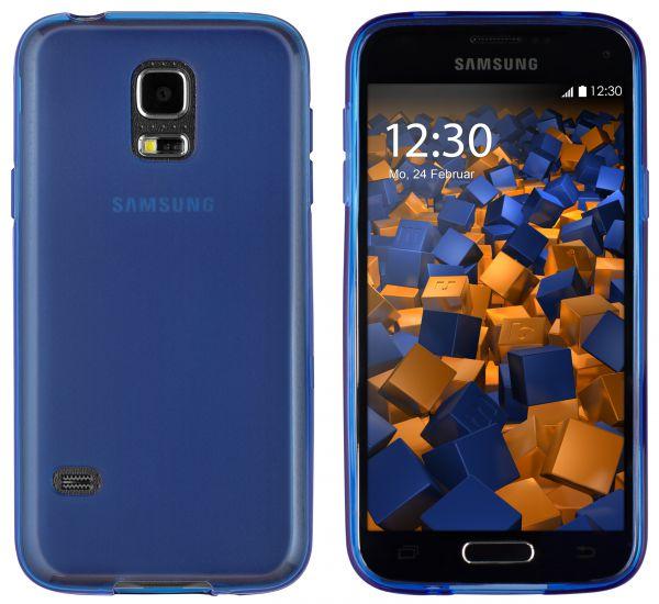 TPU Hülle blau transparent für Samsung Galaxy S5 Mini