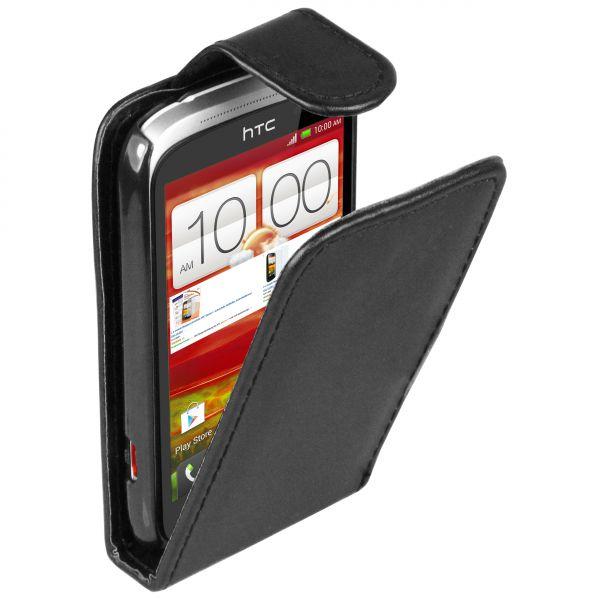 Flip Case Tasche schwarz für HTC Desire C