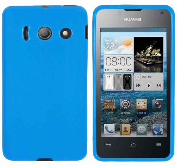 TPU Hülle blau für Huawei Ascend Y300