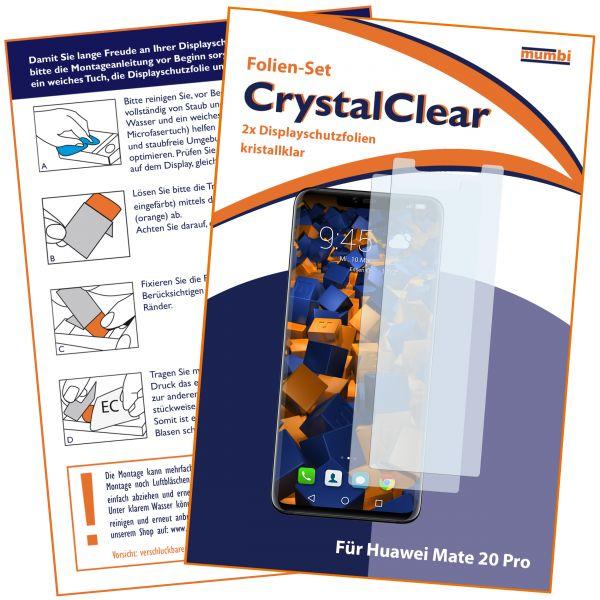 Displayschutzfolie 2 Stck. CrystalClear für Huawei Mate 20 Pro