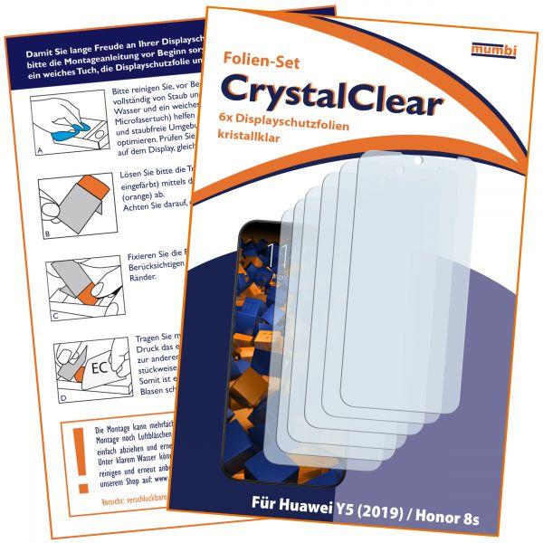 Displayschutzfolie 6 Stck. CrystalClear für Huawei Y5 (2019) / Honor 8S