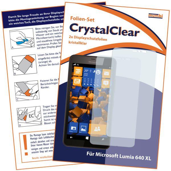 Displayschutzfolie 2 Stck. CrystalClear für Microsoft Lumia 640 XL