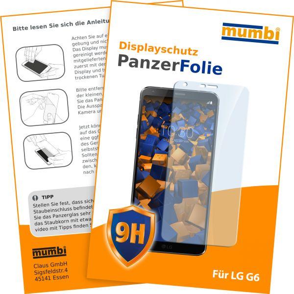 Panzerglasfolie Hartglas 9H für LG G6
