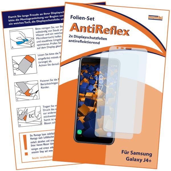 Displayschutzfolie 2 Stck. AntiReflex für Samsung Galaxy J4 Plus