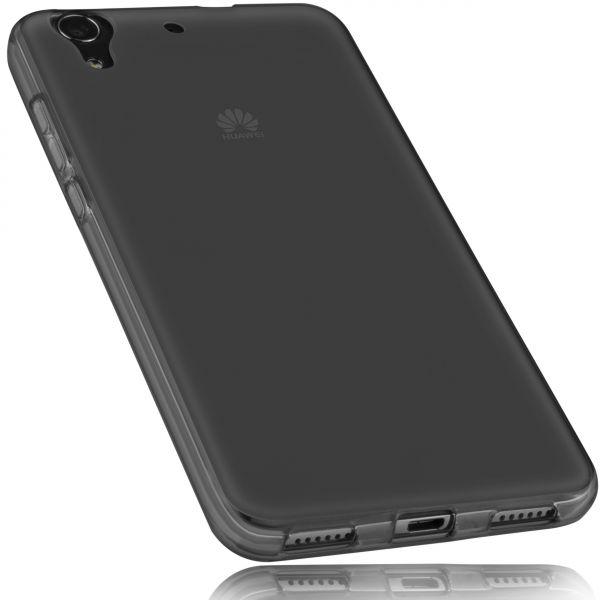 TPU Hülle schwarz transparent für Huawei Y6 II