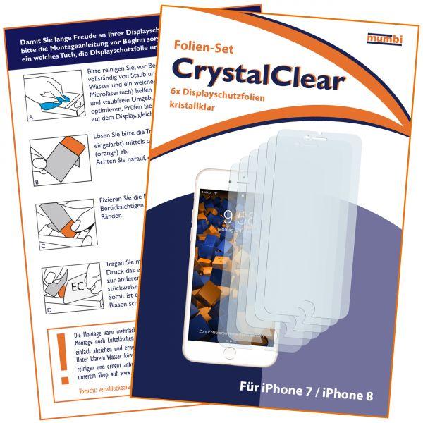 Displayschutzfolie 6 Stck. CrystalClear für Apple iPhone 8 / 7
