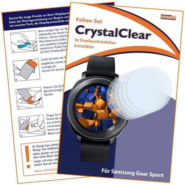 Displayschutzfolie 6 Stck. CrystalClear für Samsung Gear Sport