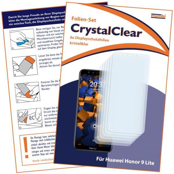 Displayschutzfolie 6 Stck. CrystalClear für Huawei Honor 9 Lite