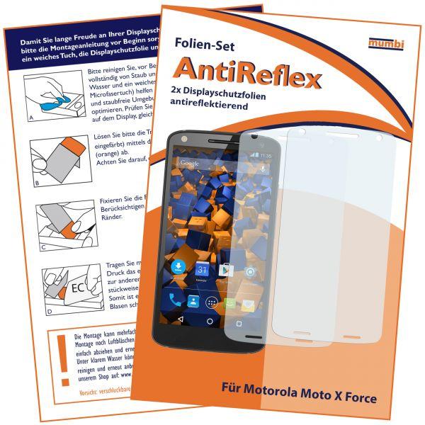 Displayschutzfolie 2 Stck. AntiReflex für Motorola Moto X Force