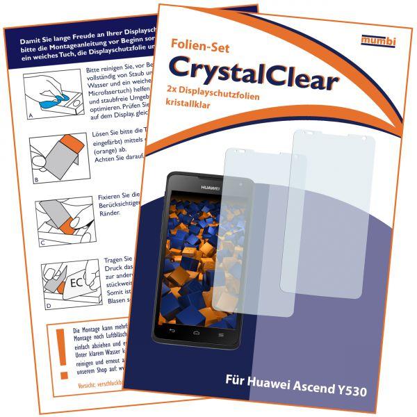 Displayschutzfolie 2 Stck. CrysstalClear für Huawei Ascend Y530