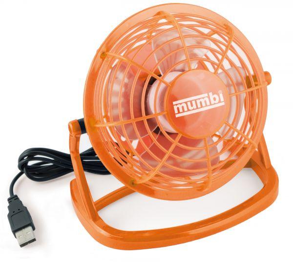 USB Ventilator mit An/Aus Schalter orange