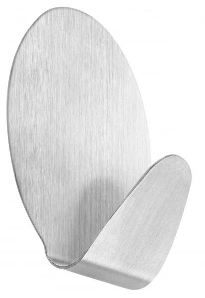 Selbstklebender Handtuchhaken oval aus Edelstahl