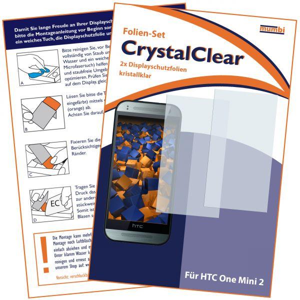 Displayschutzfolie 2 Stck. CrystalClear für HTC One Mini 2
