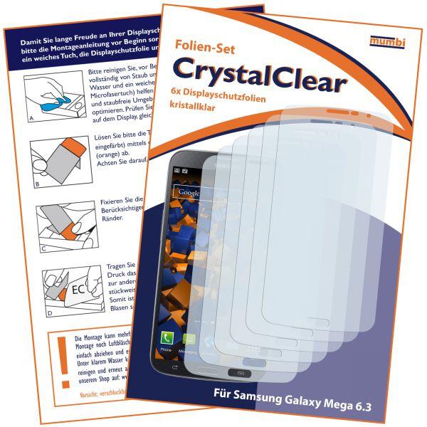 Displayschutzfolie 6 Stck. CrystalClear für Samsung Galaxy Mega 6.3