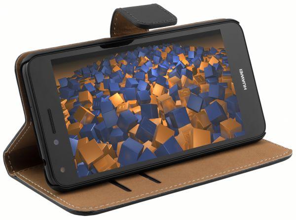 Bookstyle Tasche schwarz für Huawei Y5 II