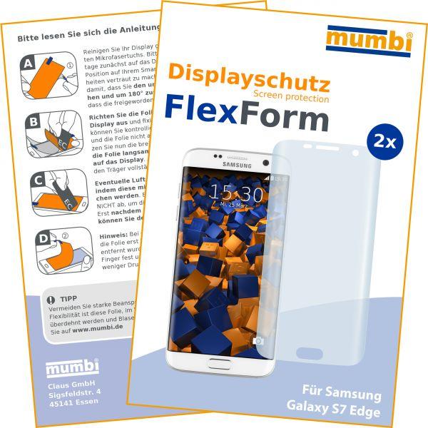 Displayschutzfolie 2 Stck. FlexForm für Samsung Galaxy S7 Edge