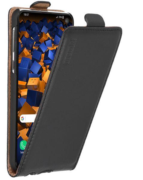 Flip Case Ledertasche schwarz für Samsung Galaxy S10e