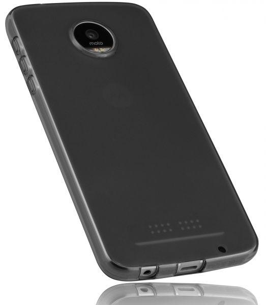 TPU Hülle schwarz transparent für Lenovo Moto Z Play