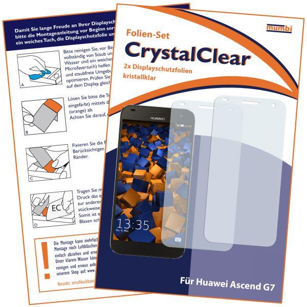 Displayschutzfolie 2 Stck. CrystalClear für Huawei Ascend G7