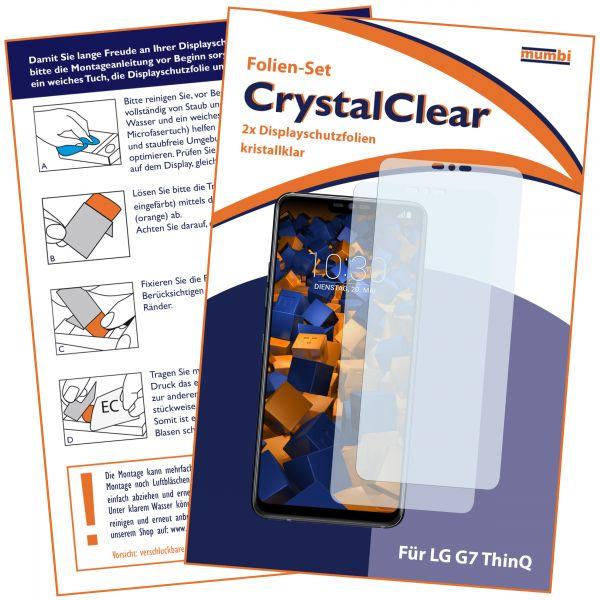 Displayschutzfolie 2 Stck. CrystalClear für LG G7 ThinQ