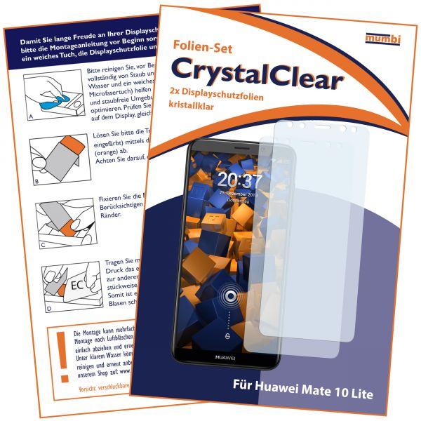 Displayschutzfolie 2 Stck. CrystalClear für Huawei Mate 10 Lite