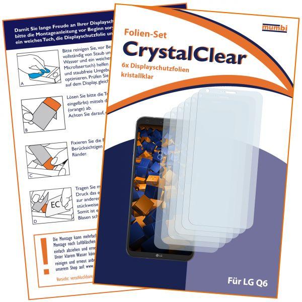 Displayschutzfolie 6 Stck. CrystalClear für LG Q6