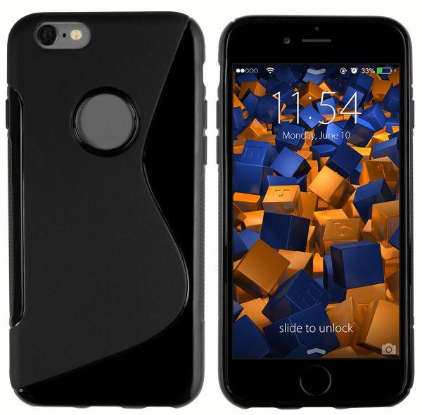 TPU Hülle S-Design schwarz für Apple iPhone 6 / 6s