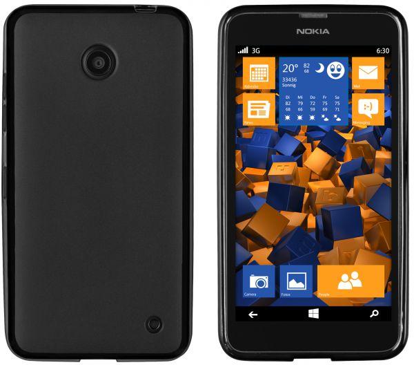 TPU Hülle schwarz für Nokia Lumia 630 / 635