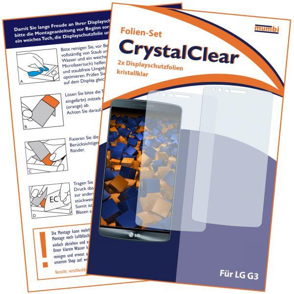 Displayschutzfolie 2 Stck. CrystalClear für LG G3