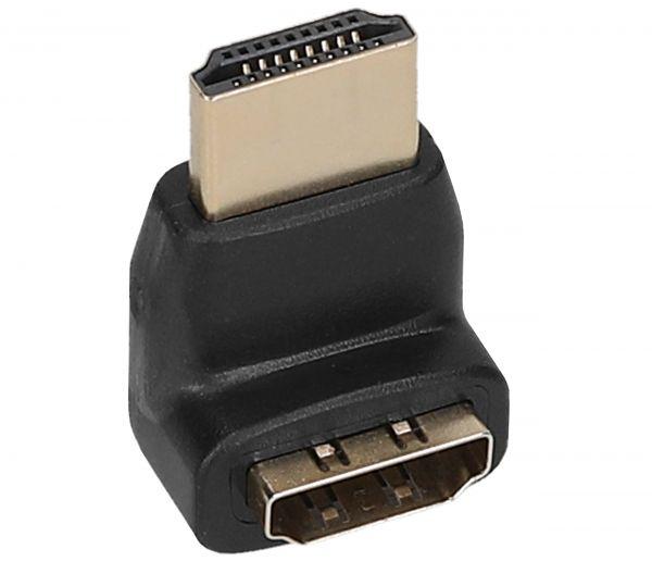 HDMI auf HDMI 270° Winkeladapter 19pol / HDMI-Stecker auf HDMI-Buchse - vergoldete Kontakte