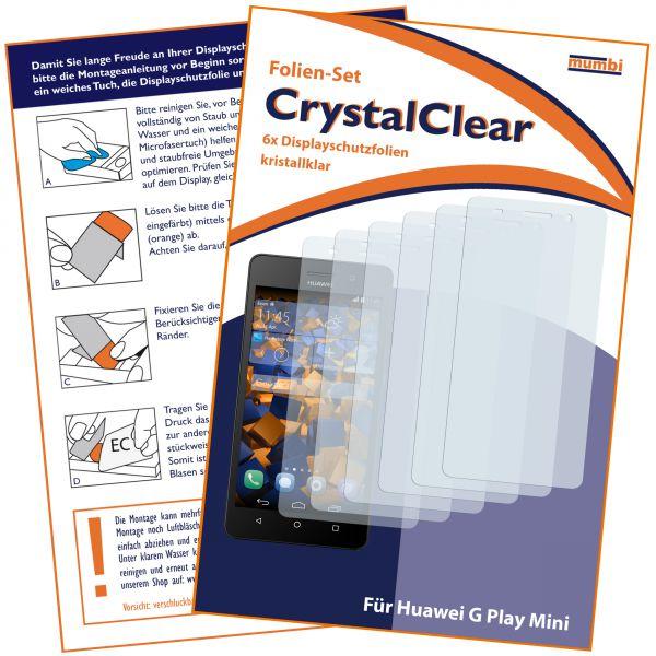 Displayschutzfolie 6 Stck. CrystalClear für Huawei G Play Mini