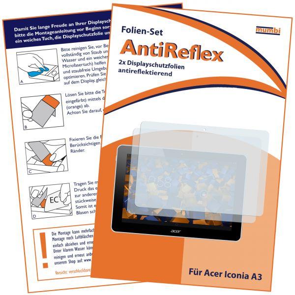 Displayschutzfolie 2 Stck. AntiReflex für Acer Iconia A3-A10