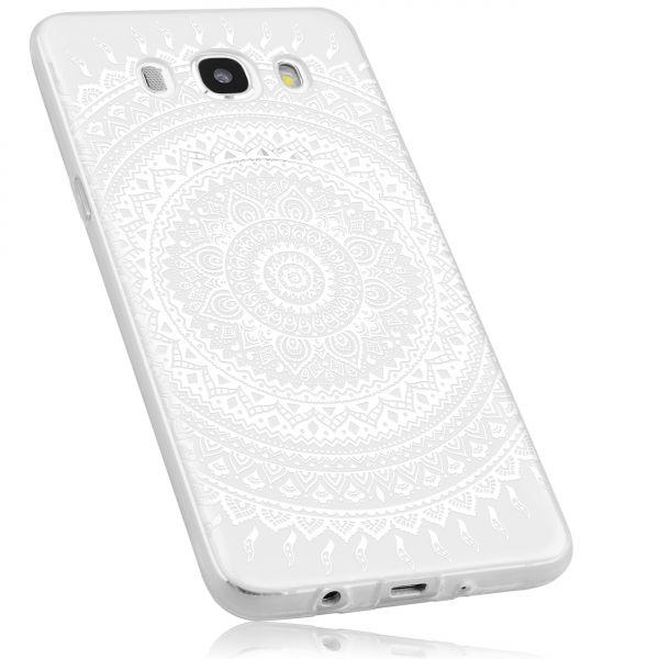 TPU Hülle Ultra Slim transparent weiß Motiv Mandala für Samsung Galaxy J5 (2016)