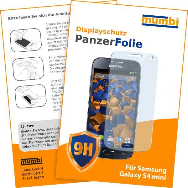 Panzerglasfolie Hartglas 9H für Samsung Galaxy S4 mini