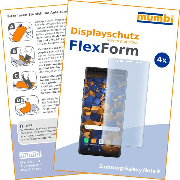 Displayschutzfolie 4 Stck. FlexForm für Samsung Galaxy Note 9