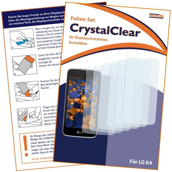 Displayschutzfolie 6 Stck. CrystalClear für LG K4