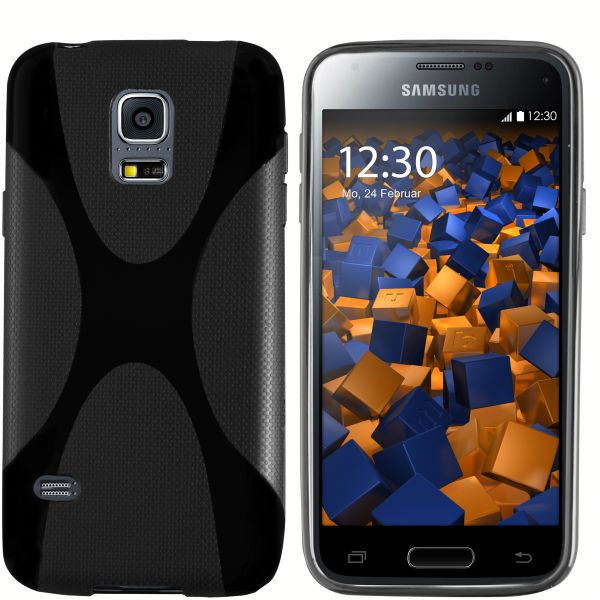 TPU Hülle X-Design schwarz für Samsung Galaxy S5 Mini