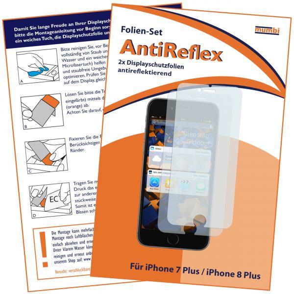 Displayschutzfolie 2 Stck. AntiReflex für Apple iPhone 8 Plus / 7 Plus