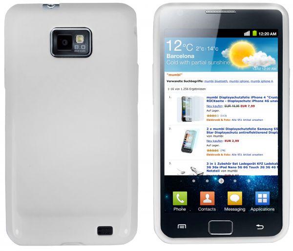 TPU Hülle weiß für Samsung Galaxy S2 / S2 Plus