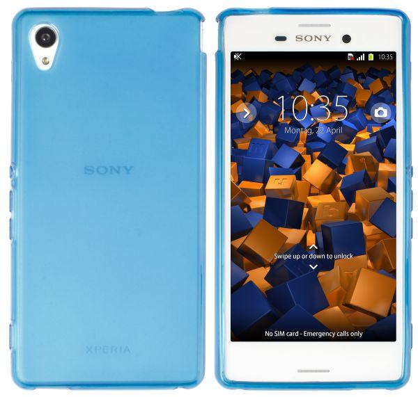 TPU Hülle blau transparent für Sony Xperia M4 Aqua