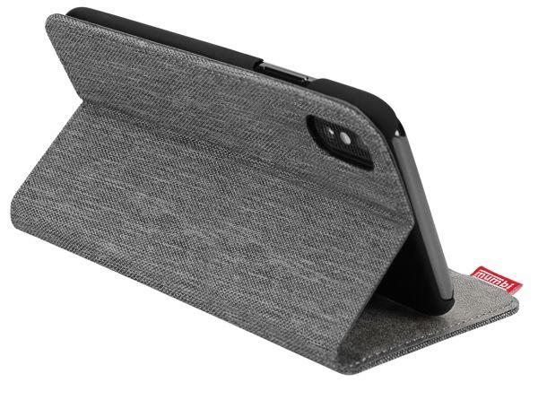 Bookstyle Tasche fineline grau für Apple iPhone XS / X