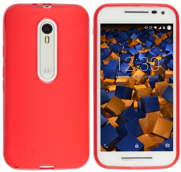 TPU Hülle rot transparent für Motorola Moto G 3. Generation