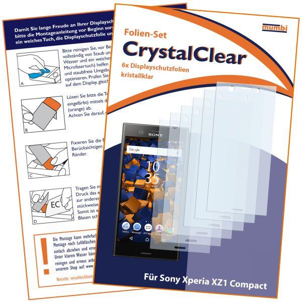 Displayschutzfolie 6 Stck. CrystalClear fürSony Xperia XZ1 Compact