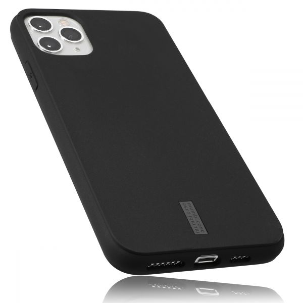 TPU Hülle schwarz mit Logo grau für Apple iPhone 11 Pro Max