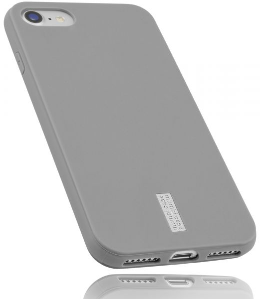 TPU Hülle hell grau mit Logo für Apple iPhone 8 / 7 / SE 2 (2020)