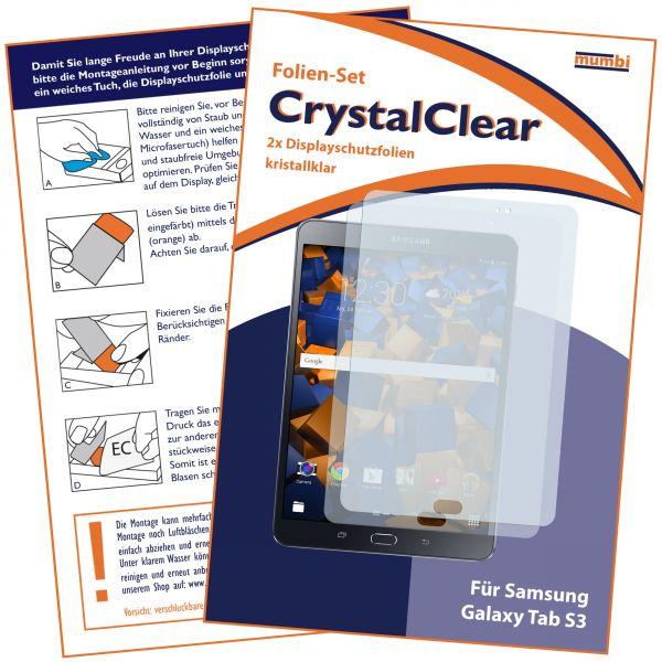 Displayschutzfolie 2 Stck. CrystalClear für Samsung Galaxy Tab S3