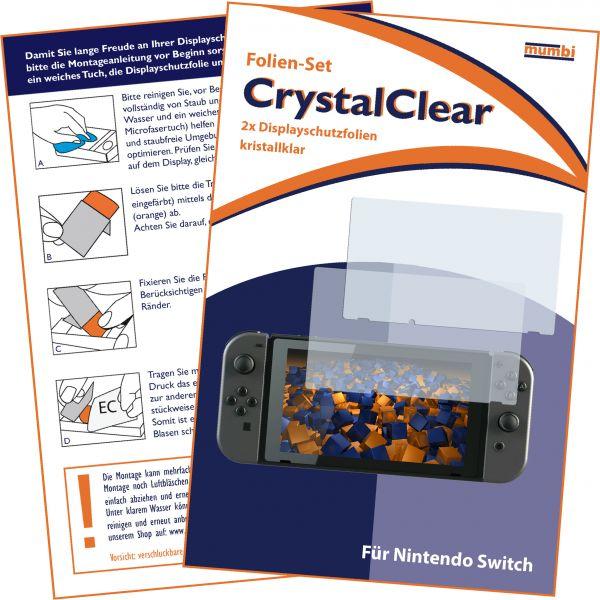 Displayschutzfolie 2 Stck. CrystalClear für Nintendo Switch