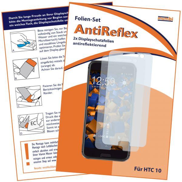 Displayschutzfolie 2 Stck. AntiReflex für HTC 10