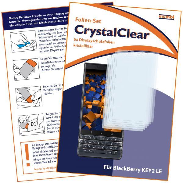 Displayschutzfolie 6 Stck. CrystalClear für Blackberry KEY2 LE