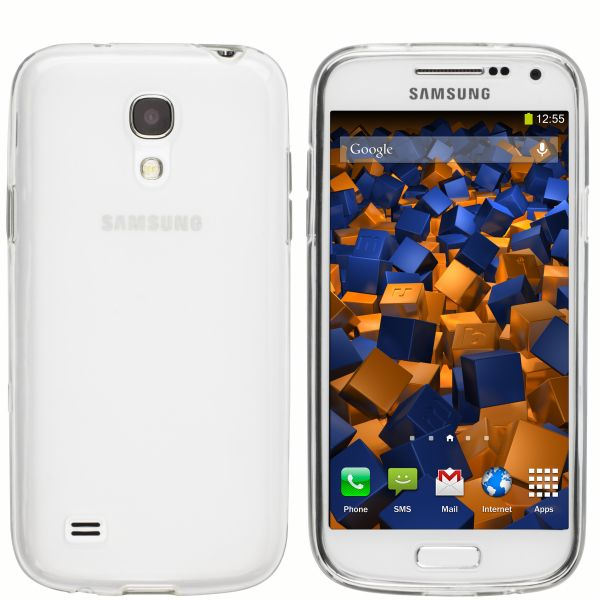 TPU Hülle transparent weiß für Samsung Galaxy S4 Mini